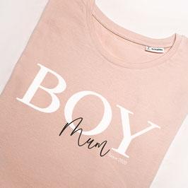 """T-Shirt """"Boy-Mum"""" mit Wunsch-Jahreszahl"""
