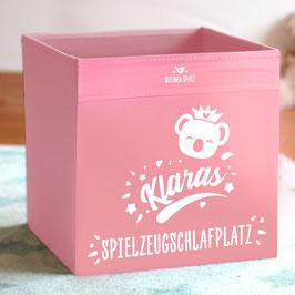 """Koala-Spielzeugkiste personalisiert mit Name und mit Aufdruck """"Spielzeugschlafplatz"""""""