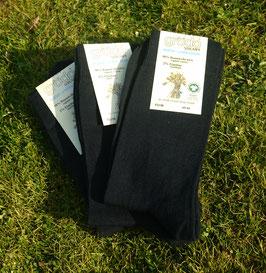 schwarze Socken Damen/Herren (3er Pack)