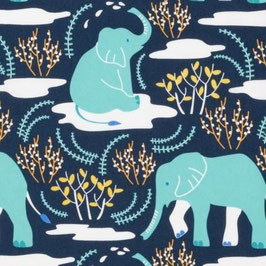 Nerida Hansen Fabrics - Wildlife Treasures - Elephanten - GOTS - Patchworkstoff