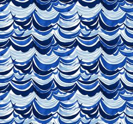 Blend Fabrics Arctic Playground - Patchworkstoff Wellen in Blau
