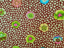 Kaffe Fassett Collective - Guinea Flower Grün- Blumen - Patchworkstoff