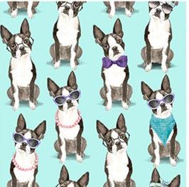 3Wishes Fabrics - A Dog's Life - Hundeleben der schönen Art - Patchworkstoff