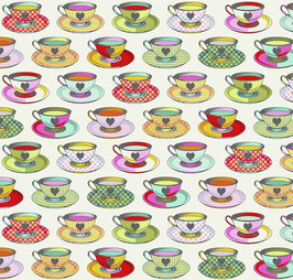 Tula Pink - Curiouser and Curiouser - Alice im Wunderland - Tea Time - Patchworkstoff