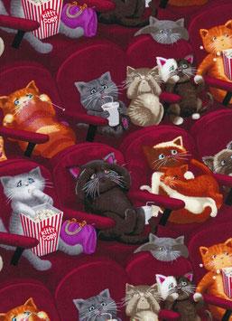 Patchworkstoff - Katzen im Kino- Timeless Treasures Scaredy Cats
