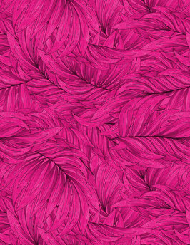 Wilmington Prints - pinke Blätter - Tropical Flair by Hello Angel -  Patchworkstoff