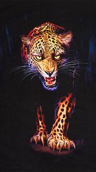 Robert Kaufmann - Wild - Animal Kingdom - Panther - Panel - Patchworkstoff