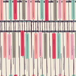 Bonnie Christine Heart Melodies Klaviertasten - Piano - Patchworkstoff