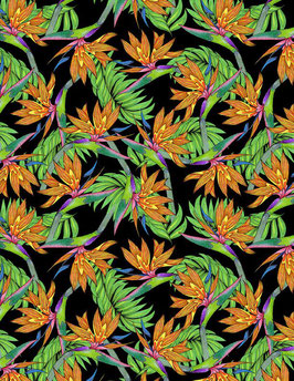 Wilmington Prints - Papageienblume - Tropical Flair by Hello Angel -  Patchworkstoff