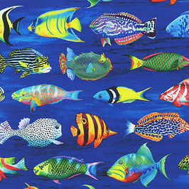 Robert Kaufmann - Carolyn Steele - Coral Canyon - Pacific - Fische im Meer - Patchworkstoff