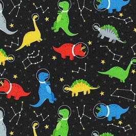 Robert Kaufman - Dino Soar - Dinosaurier Stratosphere - Patchworkstoff