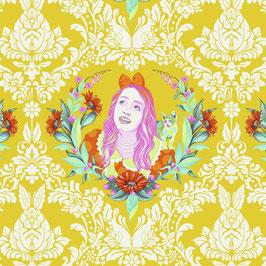 Tula Pink - Curiouser and Curiouser - Alice im Wunderland - Alice auf Türkis - Patchworkstoff