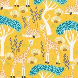 Nerida Hansen Fabrics - Wildlife Treasures - Giraffen - GOTS - Patchworkstoff