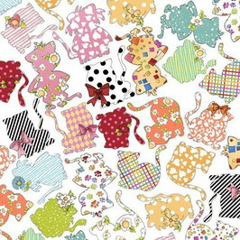 Patchworkstoff - Loralie Design - Happy Cats - Patchworkstoff