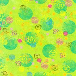 Robert Kaufman - Octopus Garden - Kreise und Blumen - Patchworkstoff