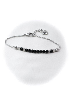 #1752-OX, Tiny Swoop Onyx, Bracelet