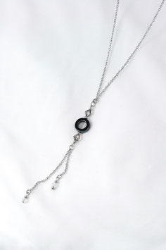 """#1840, """"Moon and Stars"""", Hematite, 30"""", Necklace/Collier"""