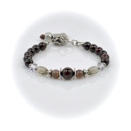 #2086, Garnet & Botswana Agate, Bracelet