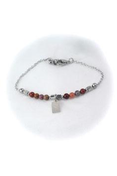 #1752-MK, Tiny Swoop Mookite & Love charm, Bracelet