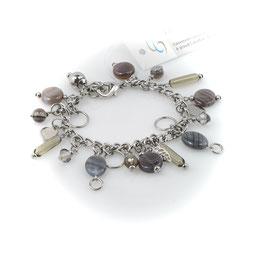 #2031-BMS, Botswana Agate shimmer, Bracelet