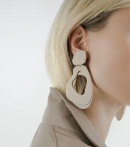 Mariam earrings - beige / MADE TO ORDER