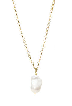 Baroque pearl necklace thick