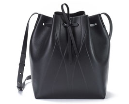 GEO BUCKET BAG black