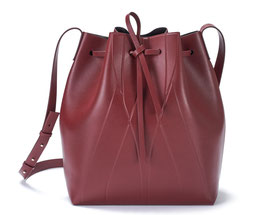 GEO BUCKET BAG bordeaux
