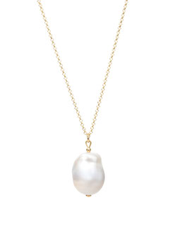 Baroque pearl necklace thin
