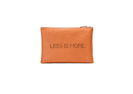 CLUTCH LESS IS MORE orange- SAMPLE SALE!