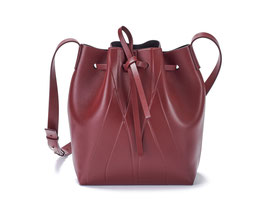 GEO BUCKET BAG MINI bordeaux