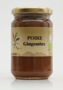 Délice de poires au gingembre confit