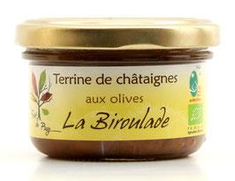 Terrine de châtaignes aux olives
