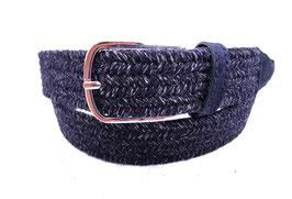BRAX Elastischer Herrengürtel 3,5 cm in dezenter Farbigkeit Hi-Flex Flechtgürtel | Edle Lederbesätze