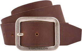 TOM TAILOR Ledergürtel Herren Jeansgürtel soft fullgrain leather 4 cm breite Made in Germany