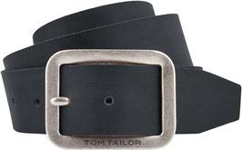 TOM TAILOR Ledergürtel Herren Jeansgürtel soft fullgrain leather 4 cm breite Made in Germany