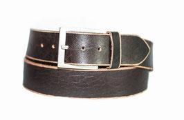 Herren Jeans Gürtel 5 cm breiter Büffelleder Gürtel zeitlos stylische Schnalle im Used Look- Individuell kürzbar durch Schraubhalterung (2 Jahre Garantie)