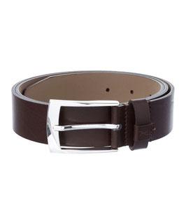 Herren Anzug Gürtel von BRAX Klassisch-sportiver Ledergürtel Braun mit feiner, rechteckiger Schließe - 3,4cm Breite