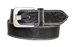 Herren Jeansgürtel in 5 cm Breite Büffelledergürtel mit Steppnaht am Rand - Individuell kürzbar durch Schraubhalterung (2 Jahre Garantie)