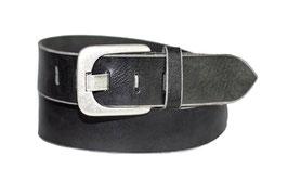 Herren Jeansgürtel 5 cm breite 100% Büffelleder Gürtel mit zeitlos stylischer Schnalle im Used Look - Individuell kürzbar durch Schraubhalterung (2 Jahre Garantie)