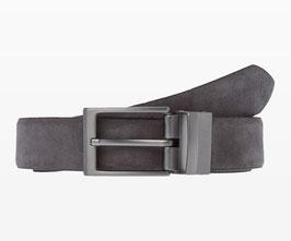 BRAX Wendegürtel in cleaner Optik Grey | 100% Leder