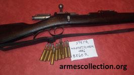 lot de 10 munitions PLEINES pour Steyr kroptaschek 8x60R