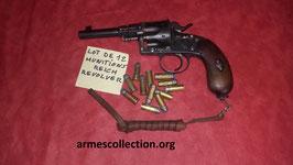 12 munitions pour reichrevolver 10.6 x25 R RECHARGEABLES