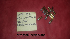 lot de 12 munitions calibre 32 smith et wesson court ou long a preciser.