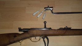 lot 3 munitions de fusil DREYSE M62