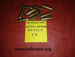 lot de 10 munitions pour pistolet WERDER BAVAROIS 11.5X35R poudre noire