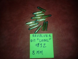 12 munitions revolver MAS 92 rechargeables.