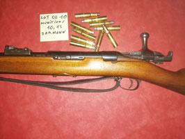 Munitions fusil JARMANN 10.15X60R poudre noire