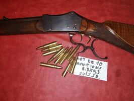 Lot de 10 munitions 9.3x53 suisse