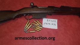 Cartouches munitions pleines rechargeables pour steyr M95 ou steyr 1888.  8X50R